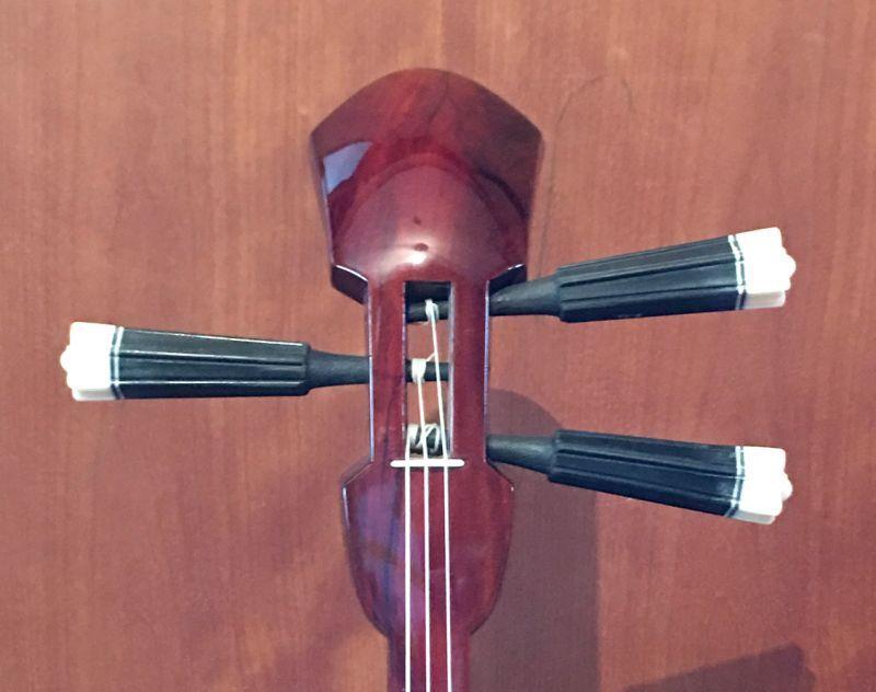 画像1: 沖縄産上質ユシギ(ゆし木・和名:イスノキ)三線セット スンチ塗り・与那型