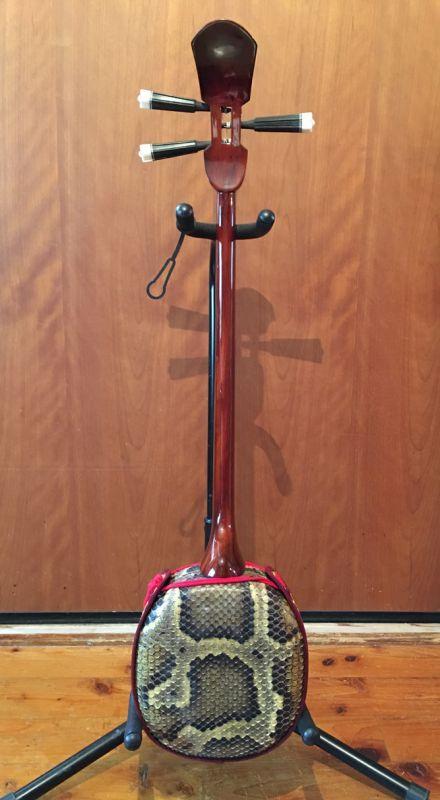 画像3: 沖縄産上質ユシギ(ゆし木・和名:イスノキ)三線セット スンチ塗り・与那型